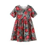 girls dresses spring summer 2 10t flower dress floral draped a line dress girl short knee length dresses regular o neck