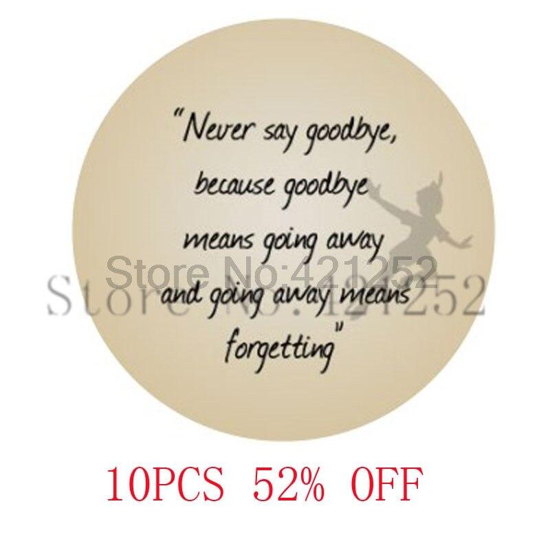 """Joyería Peter Pan, """"nunca digas adiós"""" joyería colgante de arte. (peter pan #5) collar llavero marcapáginas pendientes de gemelos"""