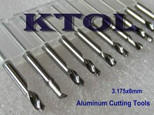 NEW 5pcs/set 3.175*6mm Single Flute Micro Grain Carbide End Mill Tools, CNC Router Bits for Aluminium Endmill Cutting Machinery