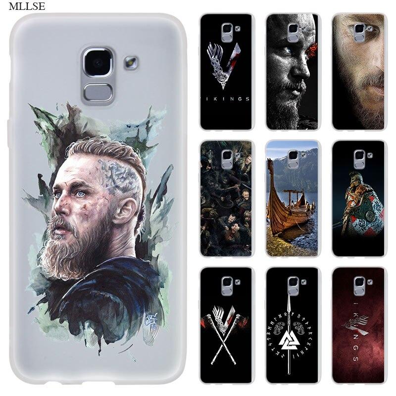 Los vikingos de la serie logotipo para teléfono caso Samsung Galaxy j6 J8 J7 J5 J3 J4 Plus 2018 de 2017 de 2016 J610 primer de silicona suave Coque