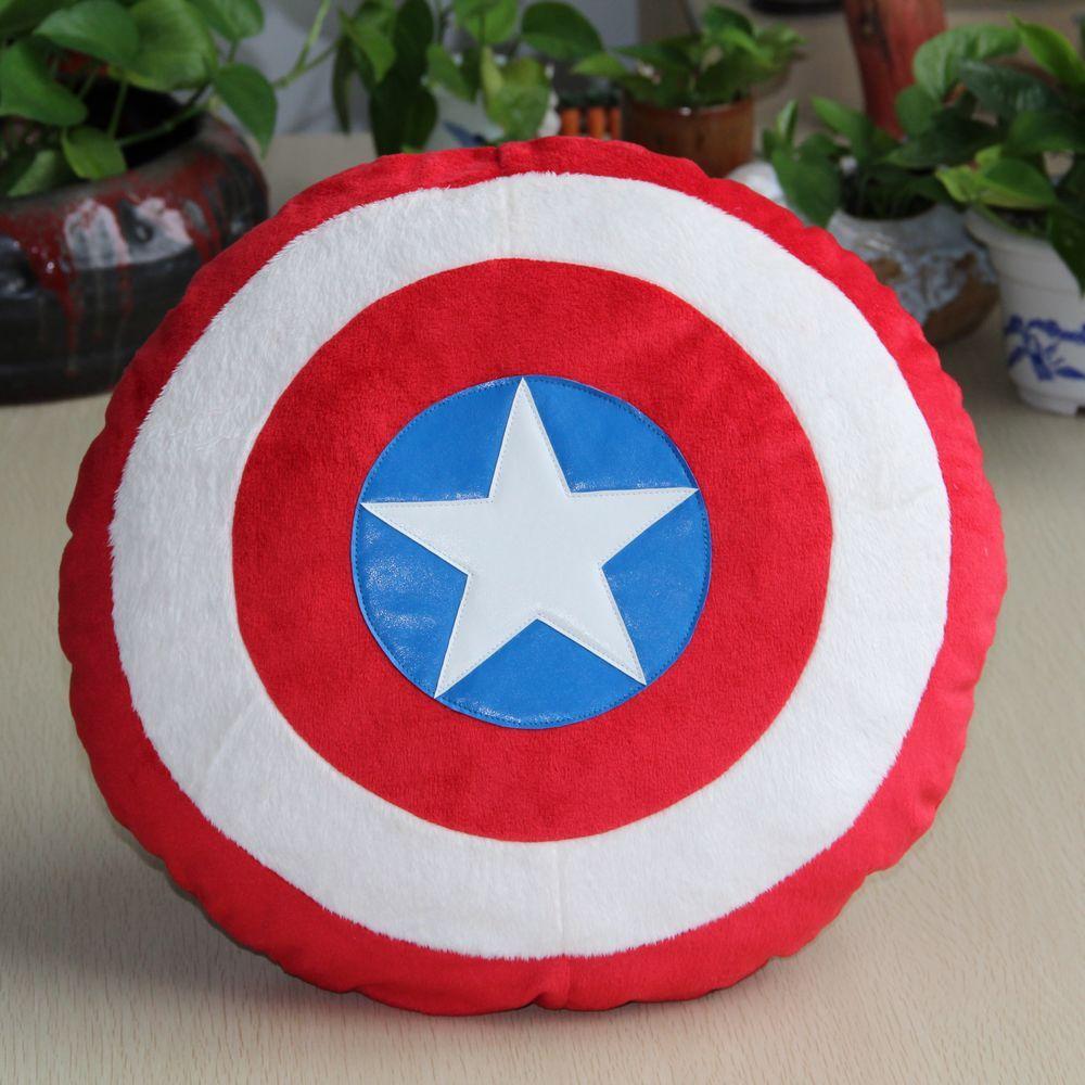 Los Vengadores juguetes superhéroes Capitán América 2 escudos almohada de peluche juguetes clásicos Juguetes