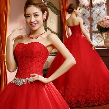 New Wedding Dresses Elegant White/Ivory/Red Princess Ball Gown Formal Dress Sweetheart Vestidos De Novia Bridal Gown