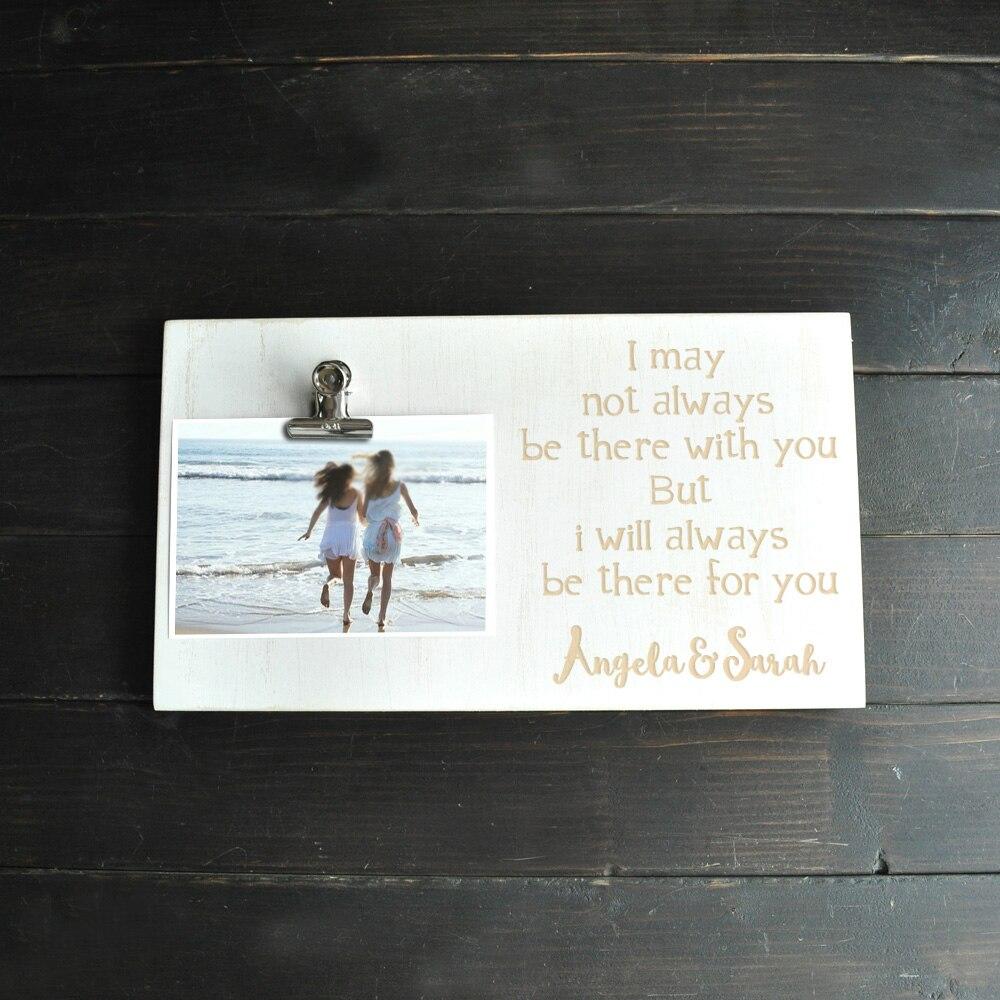 Ramka na zdjęcie na zamówienie spersonalizowana tablica na zdjęcia z klipsem ramka na zdjęcia drewniana ramka na zdjęcia prezent dla najlepszych przyjaciół siostry prezent