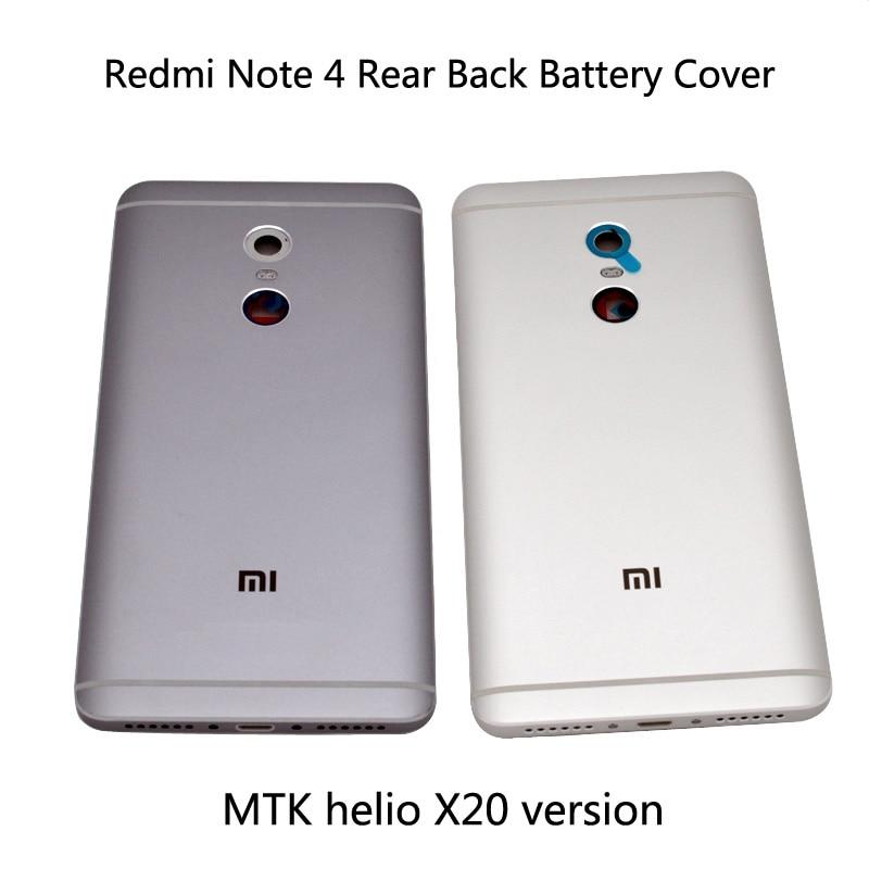 Для Xiaomi Redmi Note 4 крышка батареи задняя дверь задняя крышка чехол Note 4 Замена для MTK helio X20 версия крышка батареи
