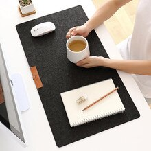 Grand ordinateur de bureau bureau clavier table tigre feutre laine portable coussin bureau pad jeu tapis de souris