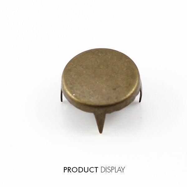 Remaches de bronce antiguo de 4 tachuelas de punta de púas de vapor 12mm para bolsos de disfraces zapatos accesorios de costura 1000 pc/K225