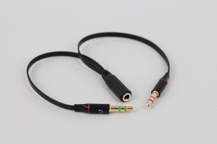 De Audio Cables Split 3,5mm Dual 2 conector macho a hembra entrada...