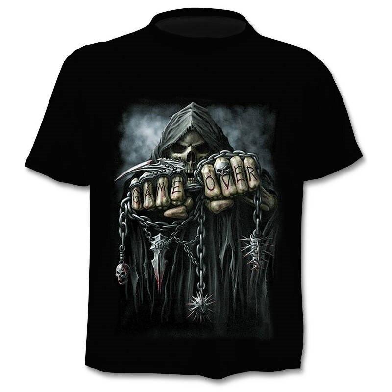 2019 Для мужчин s футболка с надписями и рисунком в виде рубашки бренд в стиле панк палец череп 3Dt футболки Для мужчин топы в стиле хип-хоп 3d принт череп футболка punisher дропшиппинг
