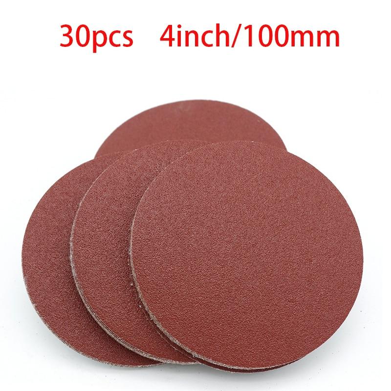High quality 20pcs 4 Inch 100mm Round Sandpaper Disk Sand Sheets Grit 40-2000 Hook and Loop Sanding Disc for Sander Grits NEW