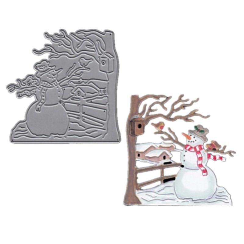 Gowing 7,3x7,4 cm muñeco de nieve de Navidad troquelado de metal troqueles Nuevo 2018 scrapbooking stitch artesanía muere metal DIY regalo