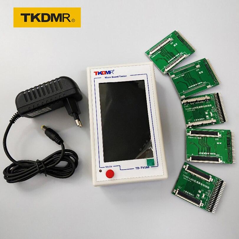 TKDMR Новый TV160 Full HD LVDS Turn VGA (LED/LCD) ТВ Материнская плата Тестер инструменты конвертер (версия дисплея) с пятью адаптерными пластинами