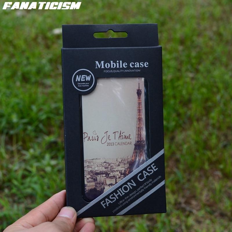 200 Uds. Embalaje Universal al por menor para iphone 11 pro XR XS Max 6s 7 8 Plus fundas de teléfono negro PVC plástico Blister caja al por menor