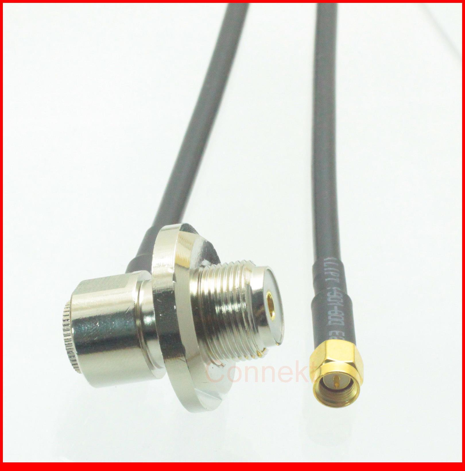 5 قطعة/الوحدة SMA التوصيل إلى SO239 VHF UHF أنثى جاك 90 درجة ل راديو السيارة هوائي RG58 كابل 10FT