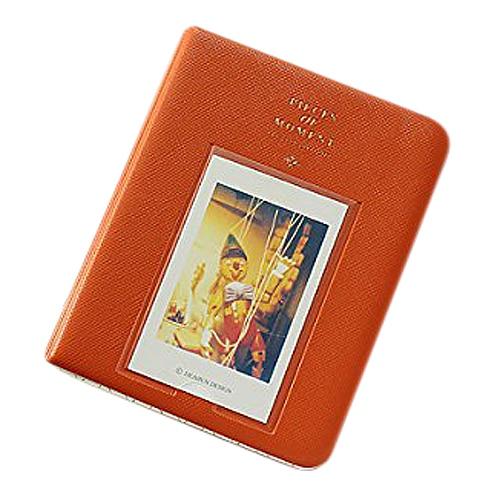 Álbum de fotos imagen fotográfica 64 pochetas para Polaroid Fuji película Instax Mini película naranja