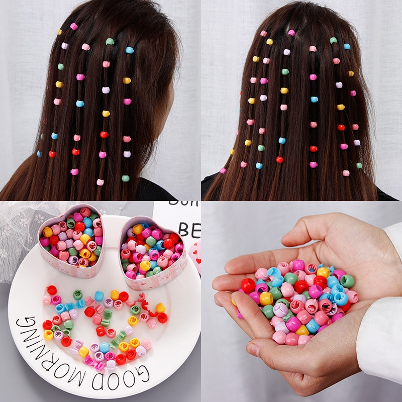 2021 New Women Girls Colorful Small Hair Ornament Clips Headband Hairpins Sweet Hair Styles Ponytail Holder Hair Accessories Set