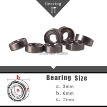 Brand new imported 10PCS 3x6x2mm Metal Miniature Radial Ball Bearings for RC helicopter car aricraft