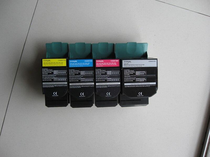 Livraison gratuite cartouche de toner à haut rendement compatible pour Lexmark C544 C546 X544 X546 X548 cartouche de toner à haut rendement