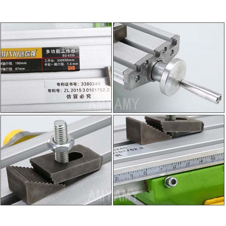 AMYAMY Mini Multifunctional Cross Working slid Table compound table worktable Bench For Drill Milling Machine 6330 enlarge