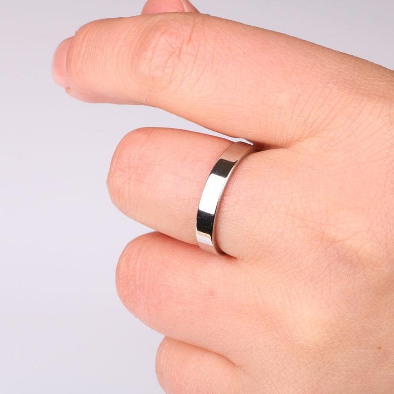 Кольца из нержавеющей стали Hgflyxu золотого и серебряного цвета для мужчин, простое обручальное кольцо 4 мм, модные украшения, мой заказ на Aliexpress 2020