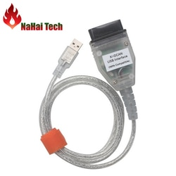 Alta qualidade para BM-W inpa k + dcan interface usb ediabas/inpa k + pode D-CAN para BM-W 1998-2008 cabo de diagnóstico profissional