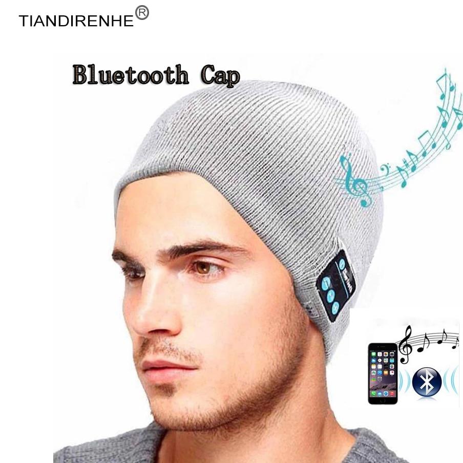 TIANDIRENHE Bluetooth Smart Cap Headset Headphone Speaker Sport Music Hat Soft Warm Beanie Hat Wireless Mic Headphone for iPhone
