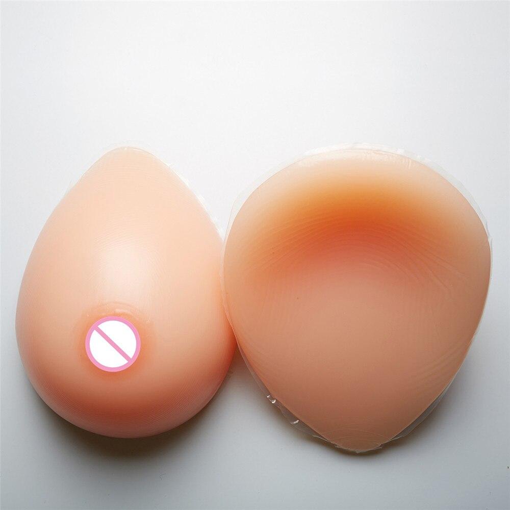 1600 g/par Clássico Oval Lágrima Formas de Mama de Silicone Seios Falsos Crossdresser Transsexual Drag Queen Com Textura Natural Mamilo