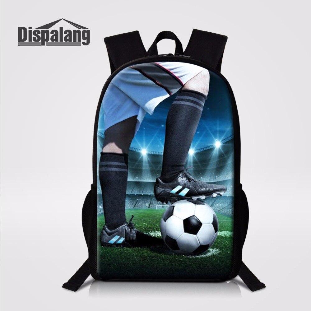 Mochila escolar con impresión de balones de fútbol para niños, mochila de baloncesto de 16 pulgadas, Mochilas de fútbol para niños, Mochilas personalizadas