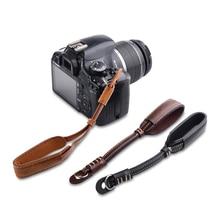Caméra PU Dragonne Double En Cuir à La Main Grip Lanière Pour Sony Olympus Nikon Fujifilm X-T3 X-T2 Canon EOS R 4000D 1300D 800D