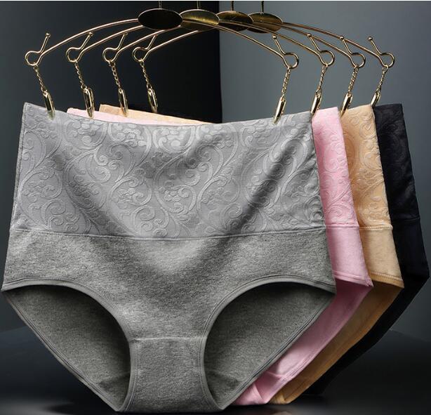 3 pcs L-XXXL Highwaist Mulheres Calcinhas Plus Size Sexy Roupa Interior Das Mulheres Calcinhas de Algodão