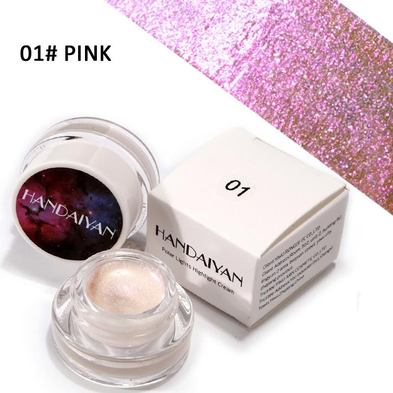 Professional HANDAIYAN Polar Lights Highlight Cream Makeup 5 shimmer colors available liquid eyeshadow 240pcs/lot DHL Free