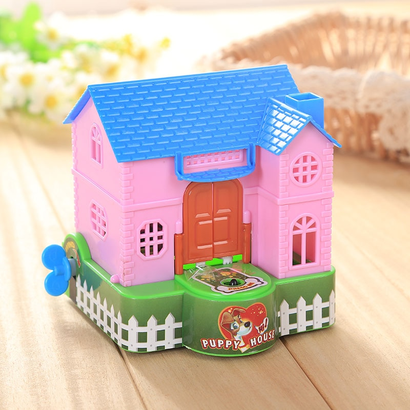 New Creative Plastic Piggy Bank Dog Money Cash Kids Money Box Automatic