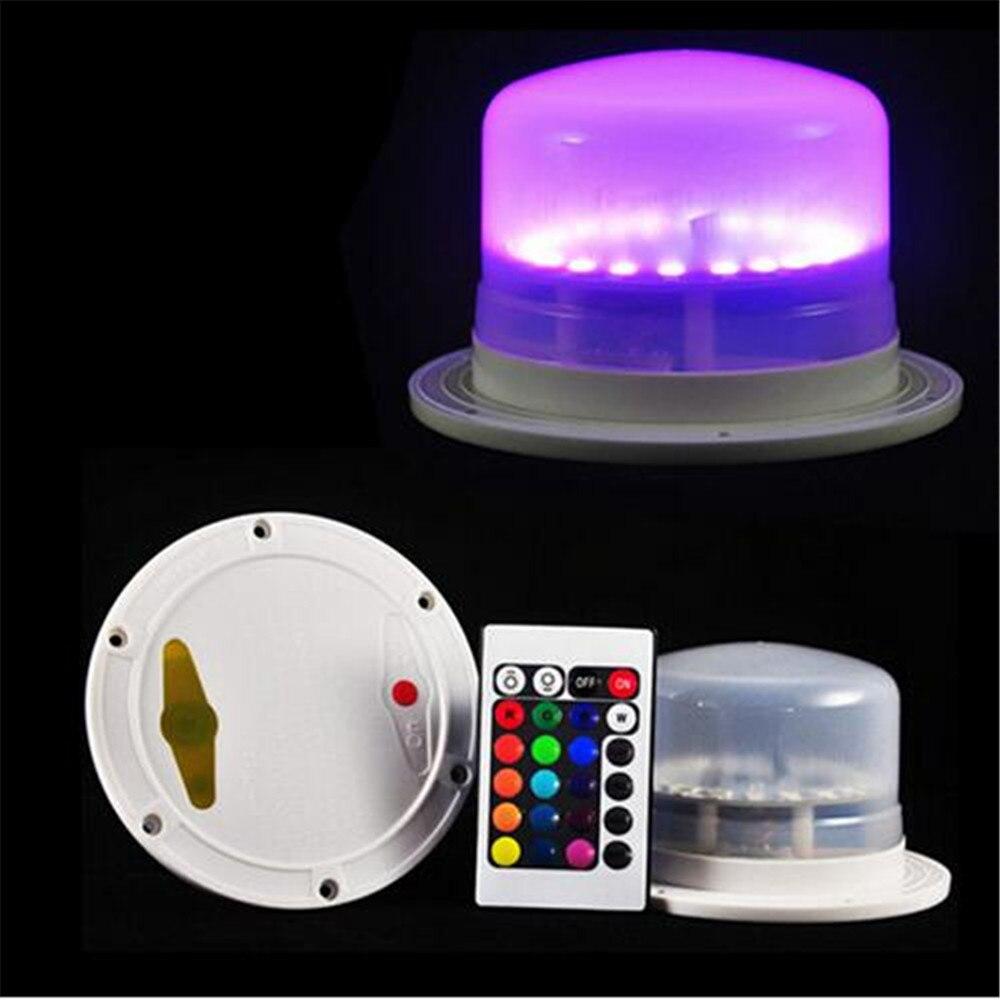 Lámparas de Mesa decorativas LED impermeables decoración para fiesta de boda bajo la mesa muebles LED iluminación con batería recargable