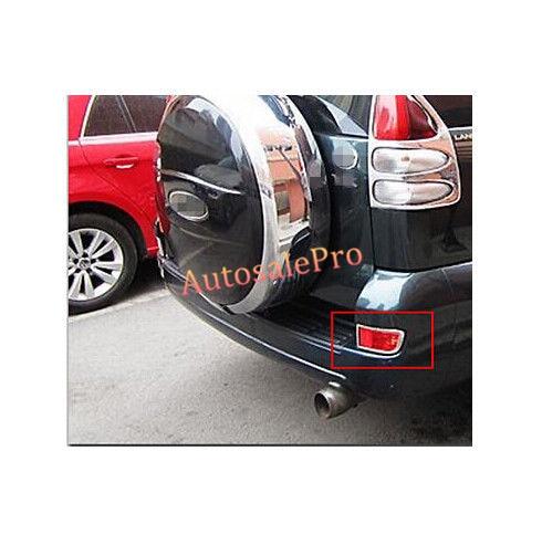 ABS cromado luz antiniebla trasera cubierta de la lámpara Trim para Toyota Prado Fj120 2003, 2004, 2005, 2006, 2007, 2008, 2009