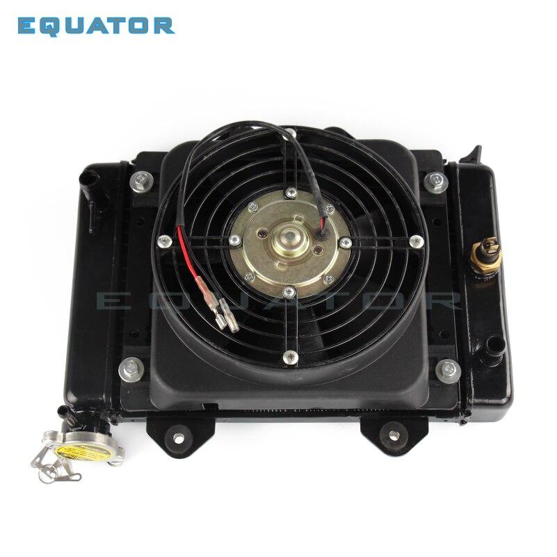 Piezas de moto rcyel, ventilador de enfriamiento refrigerado por agua y ventilador de 12v para 150cc, 200cc, 250cc, moto Quad 4x4, piezas ATV UTV
