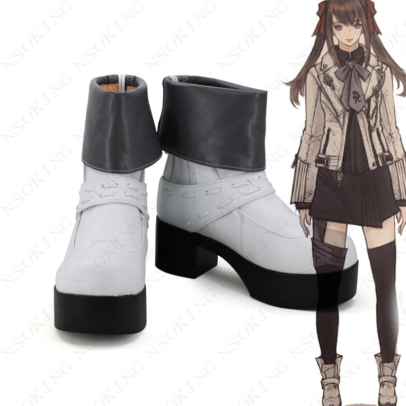 Botas de fantasía Final XIV Cosplay FF14 zapatos de Anime