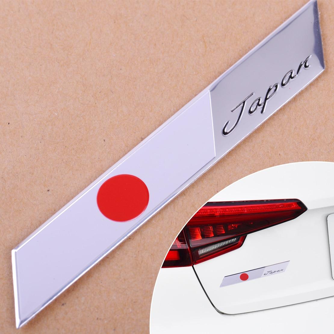 Cigall Universal 3D aluminio coche Auto Japón bandera japonesa emblema Metal insignia coche decoración de motocicletas pegatina para TOYOTA HONDA LEXUS