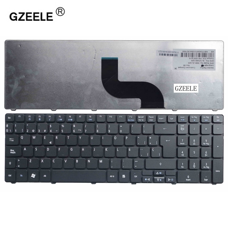 GZEELE Spanish laptop Keyboard For Acer for Aspire 5810T 5820 5750G 5750 5536TG 7741ZG 7741G 5350 black SP Teclado Keyboard new