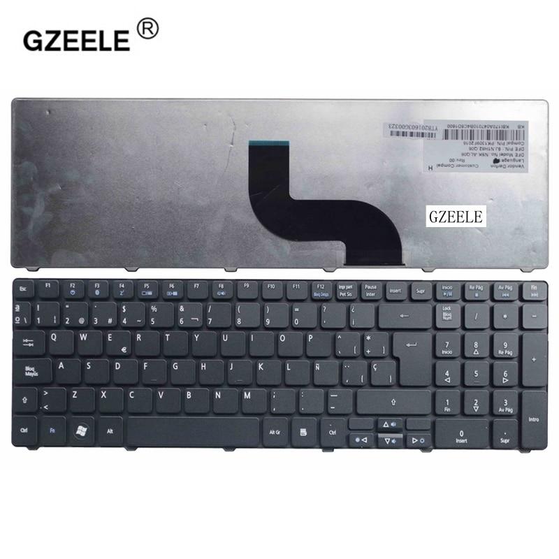 GZEELE-Teclado español para ordenador portátil Acer, para Aspire 5810T 5820 5750G 5750...