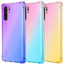 Gradient Transparent Soft Case Cover for Huawei Honor 20 Pro 10i 20i P30 P20 10 Lite P Smart Z Y7 Y6 Y5 2019 8S 8X 8C Mate 20