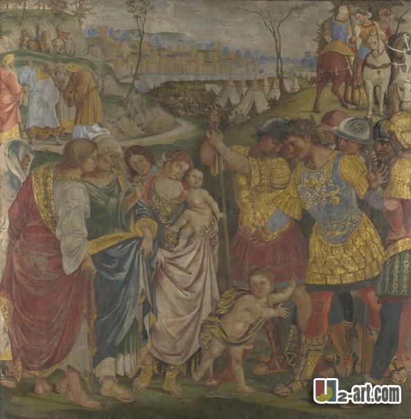 Impresiones en lienzo (familia Roma) imagen de la pared de la lona de la pintura al óleo del arte moderno de la pintura al óleo de la impresión de la religión-251 (24*24 pulgadas)
