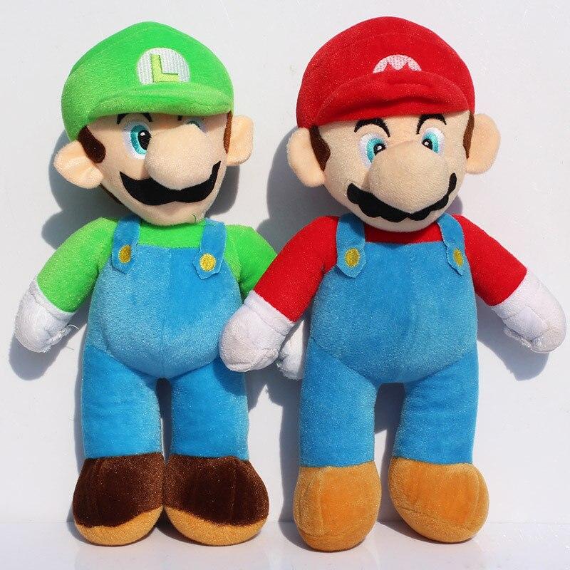 Большой размер 17 дюймов 43 см Новинка Супер Марио Братья Марио и Луиджи плюшевая кукла мягкая игрушка бесплатная доставка