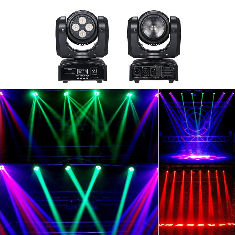 80W RGBW 4 في 1 DMX512 LED شعاع ضوء المرحلة ، الصوت المنشط ، التشغيل التلقائي 14 و 16 قناة للحفلات المنزلية ، بار ، حانة ، DJ ، عرض مباشر ، ديسكو ضوء