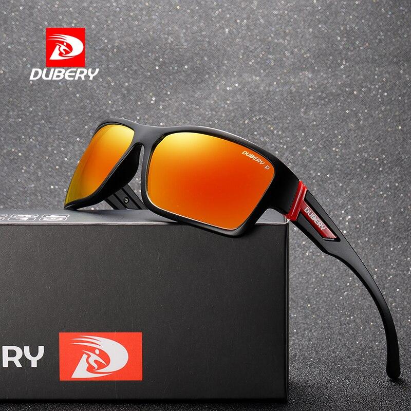 DUBERY Retro Square Sunglasses Polarized Men Women Sun Glasses For Men Mirror Round Male Sunglasses