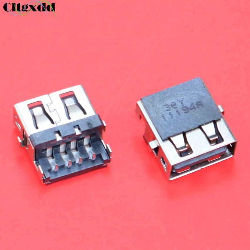 Conector USB 2,0 cltgxdd de 10 Uds para ordenador portátil, conector USB de 4 pines hembra para Lenovo E46A E46L HP G4 G6 G7 E320 para Samsung NP300E5C