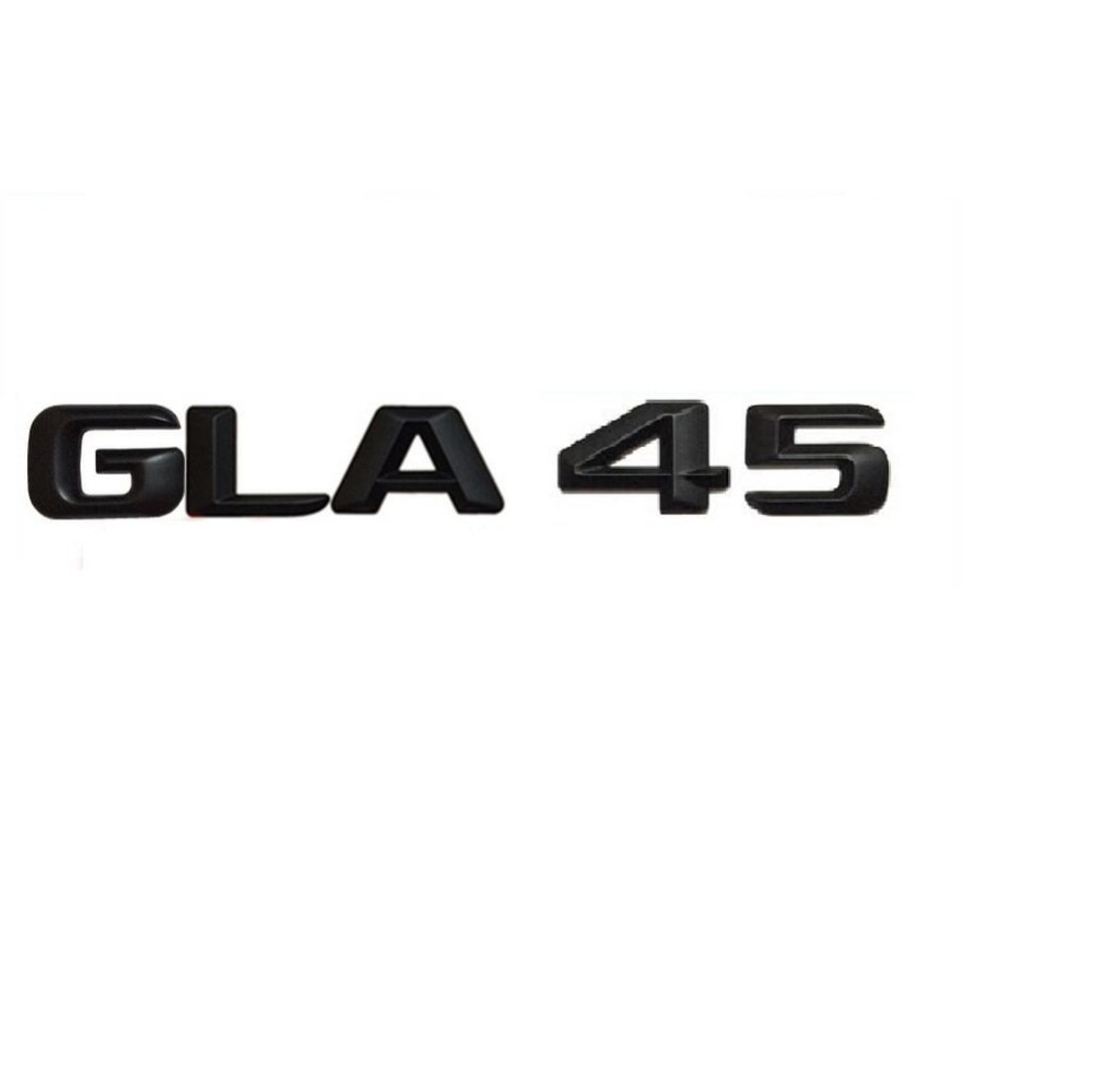 "Matt Black "" GLA 45 "" Car Trunk Rear Letters Word Badge Emblem Letter Decal Sticker for Mercedes Benz AMG GLA Class GLA45 AMG"