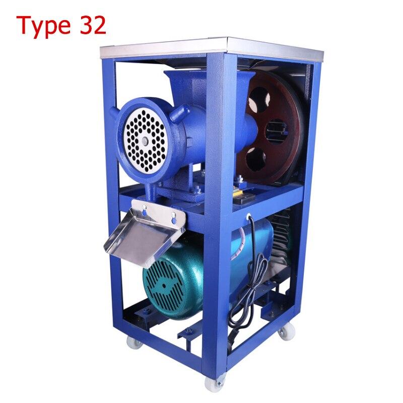 Electric Meat Mincer Commercial Electric Meat Grinder Chicken Skeleton Mincing Machine for Livestock Farm 32