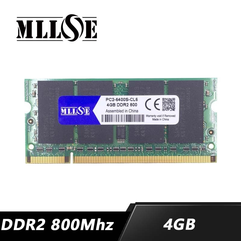 MLLSE الذاكرة ram DDR2 4gb 8gb 800 Mhz PC2-6400 sodimm الدفتري المحمول ، ميموريال رام ddr2 4gb 800 Mhz pc2-6400s ، ddr 2 4g 4gb ram