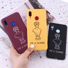 Para Samsung S8 S9 S10 S10e S20 Plus lite Nota 8 9 10 A7 A8 Venus De Milo escultura clásico chica caja del teléfono De silicona Capa Fundas