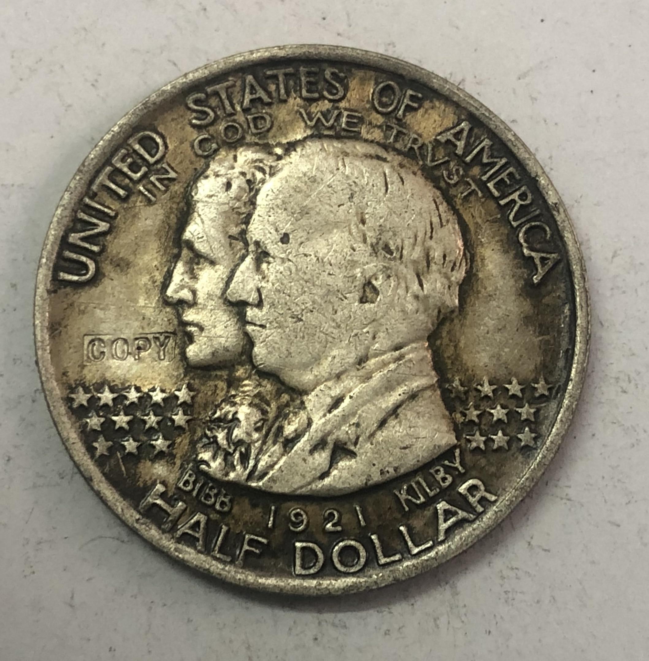 1921 Estados Unidos medio dólar Alabama Centennial