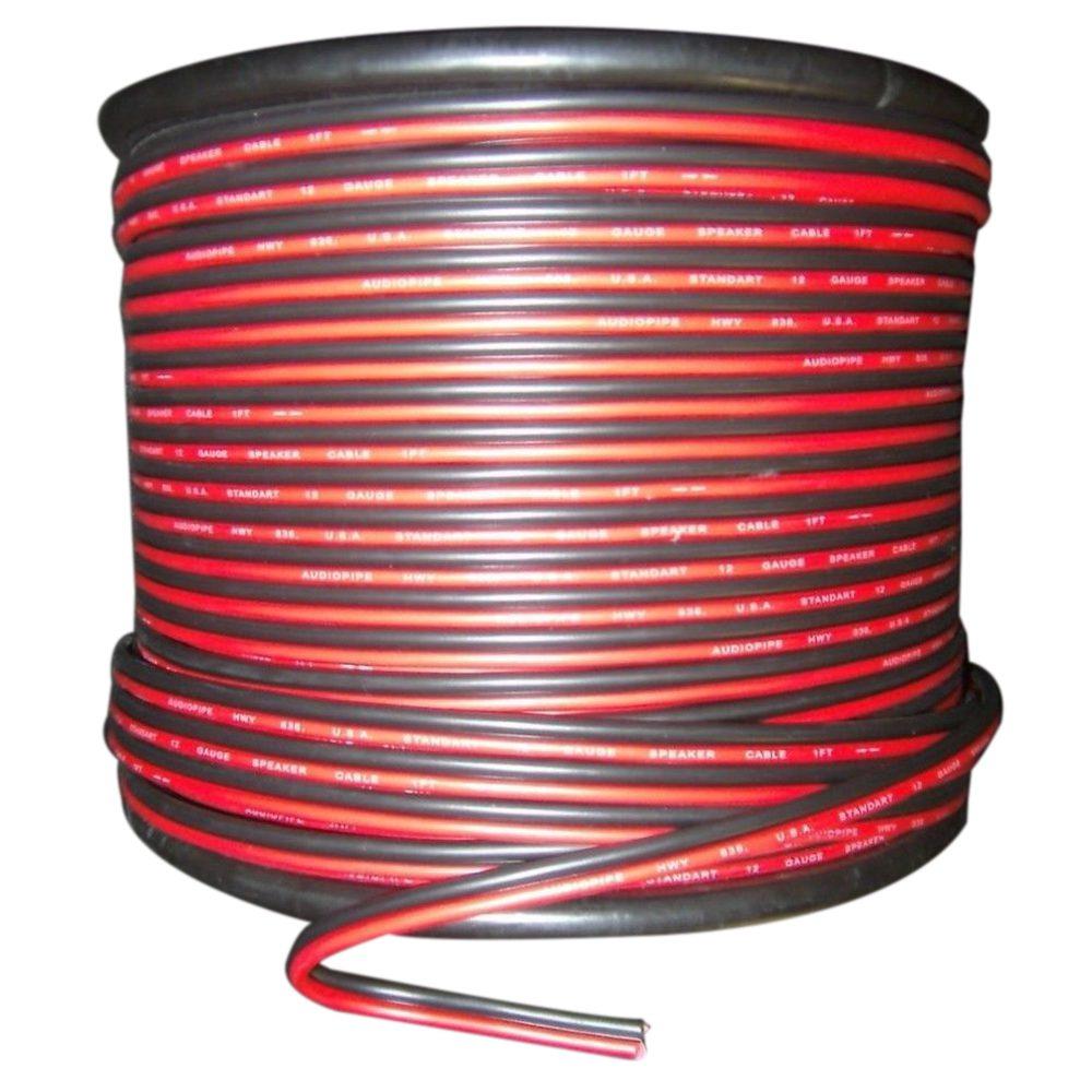 22 calibre 15m Rojo Negro Zip de alambre de Cable AWG de tierra cobre trenzado Coche